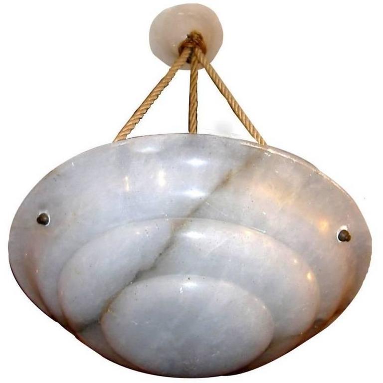 Art Deco Alabaster Light Fixture