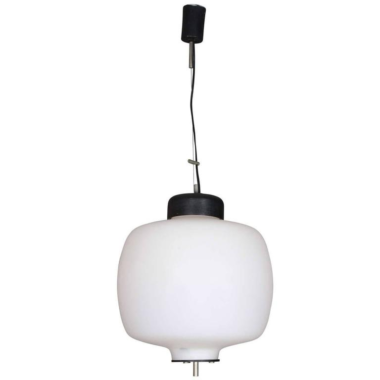 Handblown Glass Pendant Lamp Made in Italy by Reggiani Lampadari