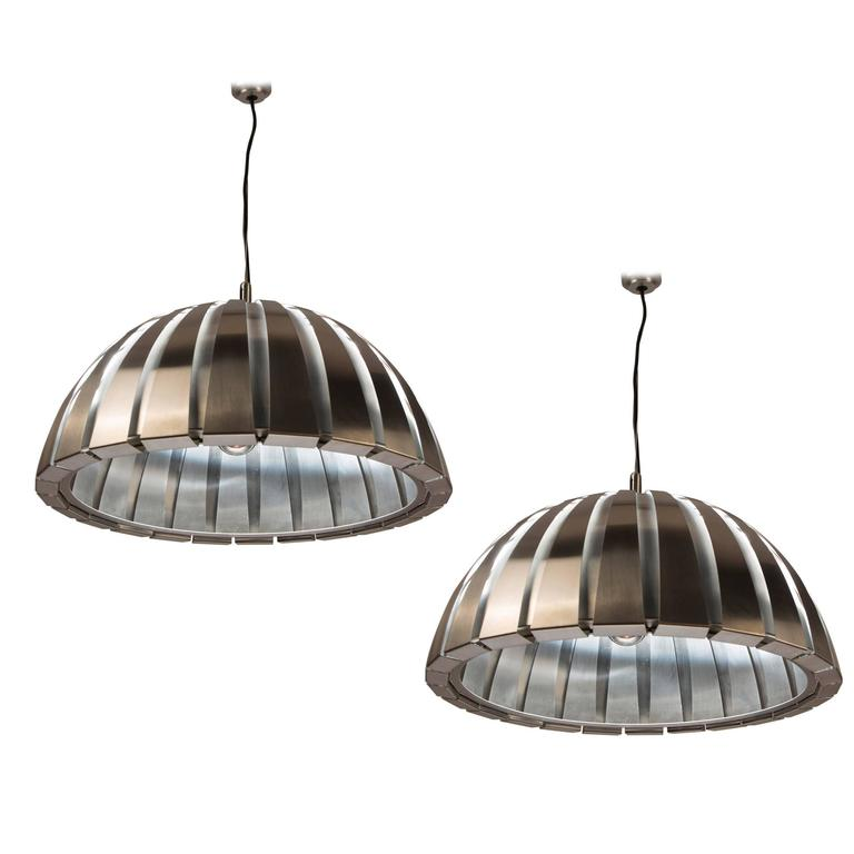 Pair of Ceiling Lamps by Elio Martinelli for Martinelli