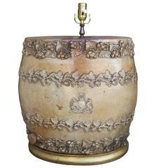 19th Century English Whiskey Barrel as Lamp