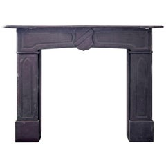 19th Century Victorian Gray Slate Mantle