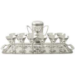 Art Deco, Antique American Sterling Silver Cocktail Set by Tiffany & Co.