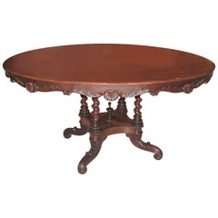 19th Century Danish Carved Mahogany Centre Table