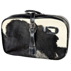 Unusual Cowhide and Leather Overnight Bag