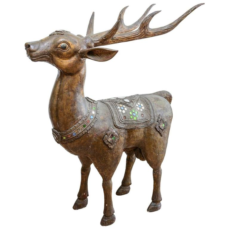 Burmese Figure of a Deer