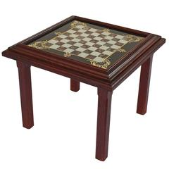 English Low Table with Chess Board Top