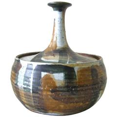 Joel Edwards Stoneware Lidded Vessel