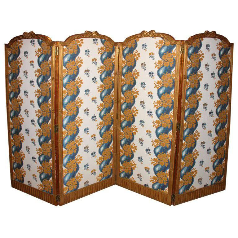 French Folding Screens : French giltwood folding screen for sale at stdibs