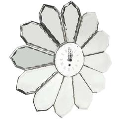 Modern Sunburst Mirrored Wall Clock
