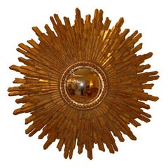 Candace Barnes Now, Hand-Carved Gold Leaf Giltwood Mirror