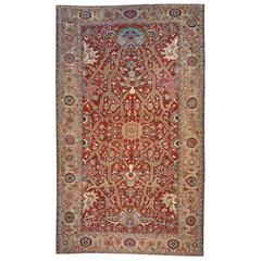 Antique Persian Serapi Decorative Oriental Carpet, Large Size, w/ Allover Design