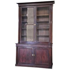 French Period Empire Glass Fronted Bookcase