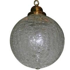 Moderne Crackled Glass Globe Light Fixture