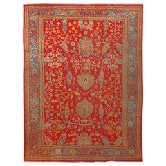 Antique Turkish Oushak Carpet, 10' x 14'