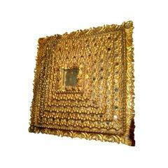 Square Giltwood Mirror