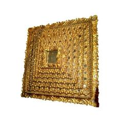 Square Giltwood Mirror