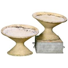 Vintage Fiber Cement Tilted Conical Planters