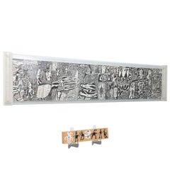 """Rare Jean Dubuffet Monochrome Silkscreen Mural on Paper Scroll, """"Parcours"""""""