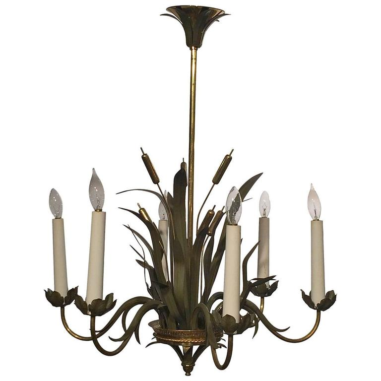 French Six Light Chandelier By Maison Charles At 1stdibs