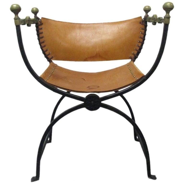 Italian Curule Savonarola Chair