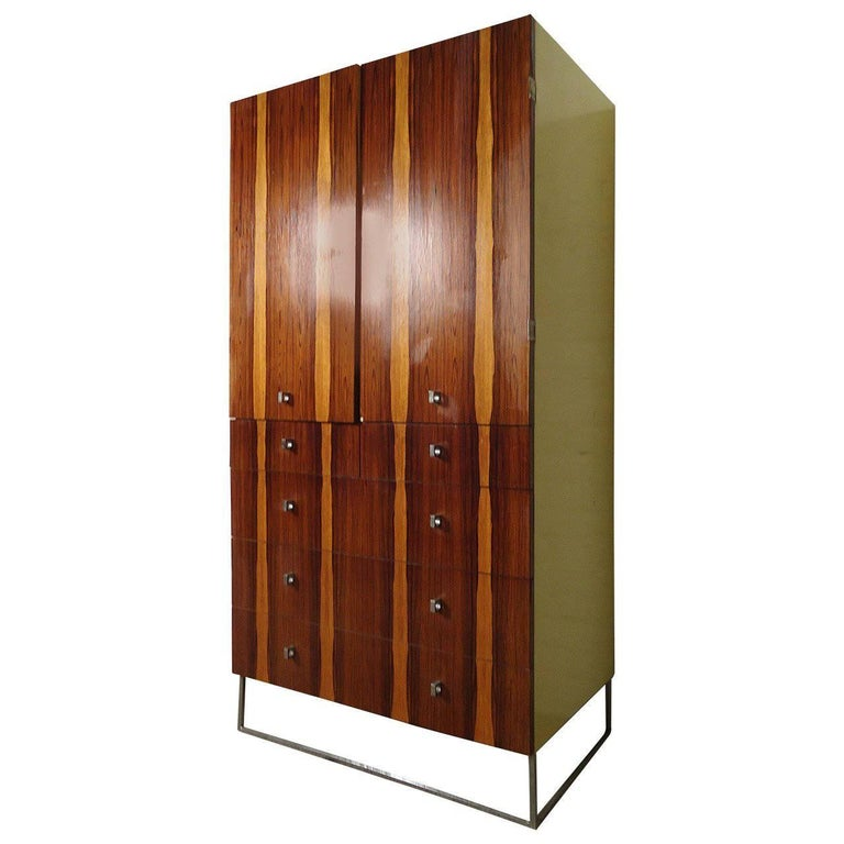 Rich Rosewood Armoire and Dresser by Rougier