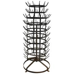 Huge French Swiveling Bottle Drying Rack