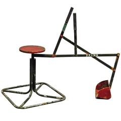Arts and Crafts Metal Toy Seat Bucket Digger