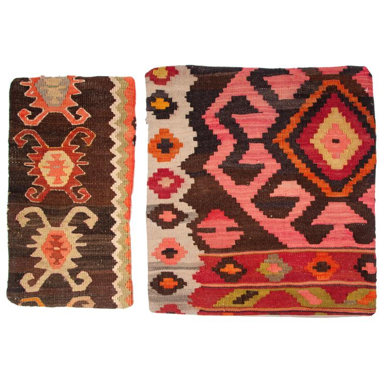 Midcentury Kilim Pillow Slips From Afghanistan Rugs For