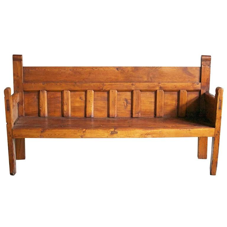 19th Century Large French Country Bench