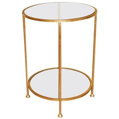 A Mirrored Two Level Side Table