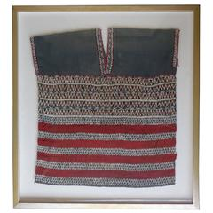 Vintage Hand Weave Tunic in Shadow Box