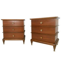 "Pair of Kent Coffey Nightstands, ""The Appointment"""
