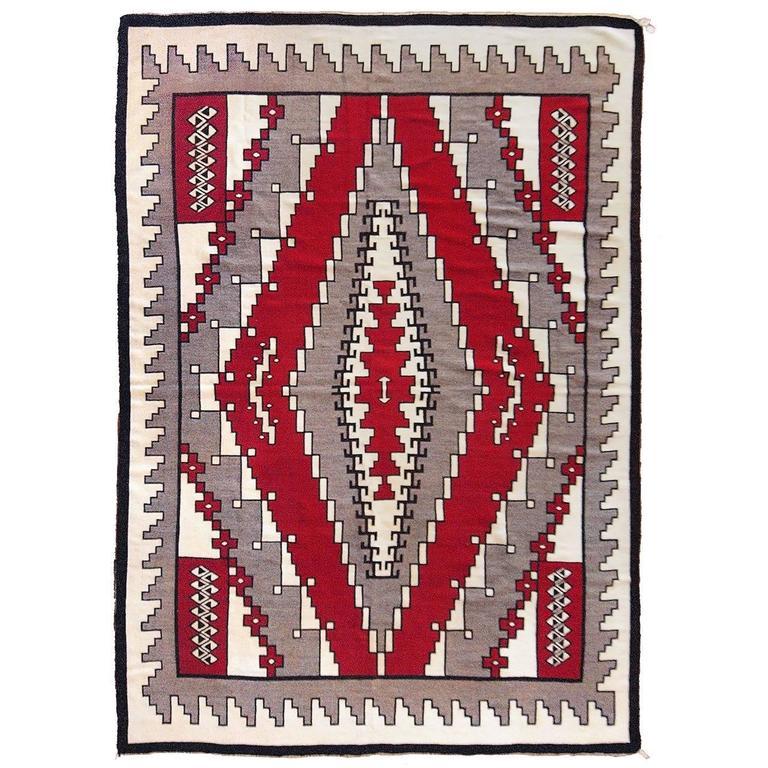 Large Vintage Navajo Rug, Ganado Trading Post, circa 1940