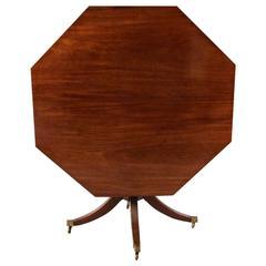 Fine Regency Mahogany Octagonal Centre Table