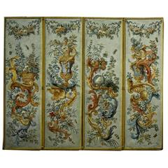 Italian 18th Century Four-Panel Painted Screen