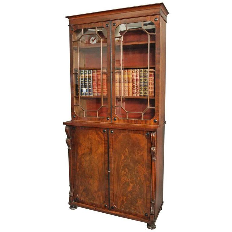 Early 19th Century Mahogany Glazed Bookcase