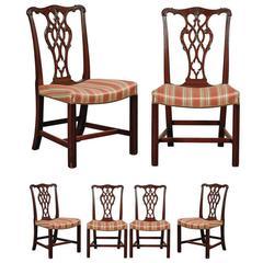 English Georgian Set of Six Dining Chairs, circa 1820