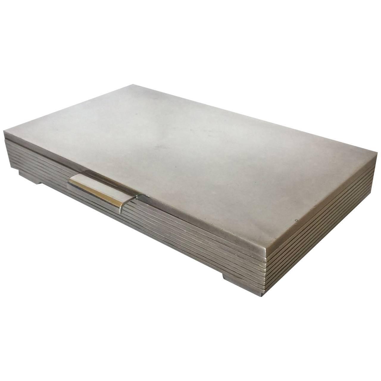 georg jensen sterling silver keepsake box no 712c by sigvard bernadotte for sale at 1stdibs. Black Bedroom Furniture Sets. Home Design Ideas