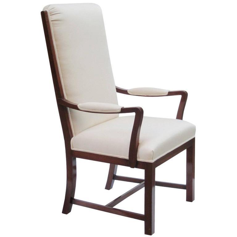 Kaare Klint Designed Tall Back Armchair 1