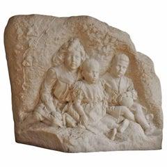 Royal Carrara Sculpture of the Three Children of King Leopold III, Belgium