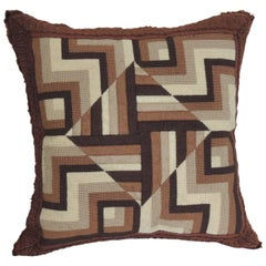 Mid-Century Modern Tapestry Decorative Pillow Textured Finish
