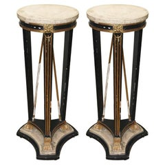 Pair of Period Directoire Pedestals / Selettes