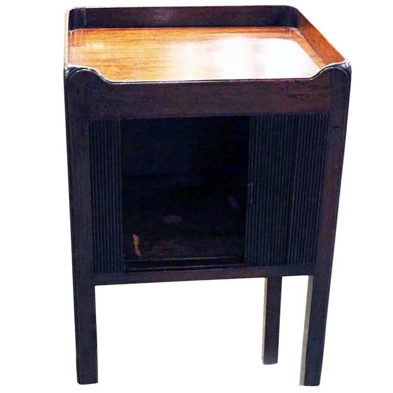 English Mahogany Bedside Table 1