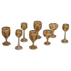 19th Century Moser Stemware Service for 12-36 Pieces