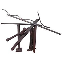 Jerry Sarapochiello Abstract Steel Sculpture