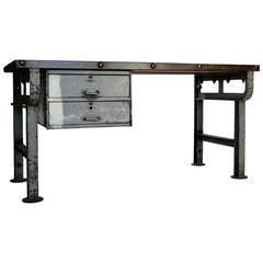 Industrial Steel Work Table