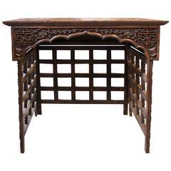 Asian Hardwood Travelling Table