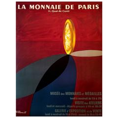 Modern Period French Advertising Poster for the Museum of Currency by Villemot
