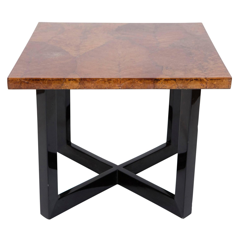 Leaf Motif Coffee Table End Table At 1stdibs