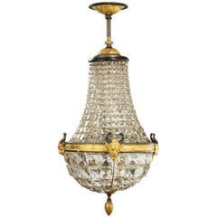 Late 19th Century Basket Chandelier